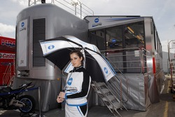 The charming Konica Minolta Honda girl