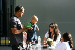 Juan Pablo Montoya with wife Connie Montoya and son Sebastien