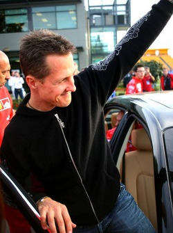 Michael Schumacher leaves the track