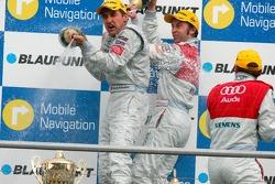 Podium: champagne for Bernd Schneider, Tom Kristensen and Heinz-Harald Frentzen