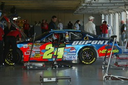 Jeff Gordon's car in the garage