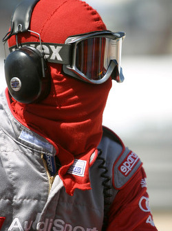 Audi team member ready for a pitstop