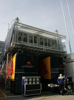 Red Bull Racing paddock area