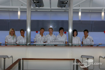 The staff at the BMW hospitality