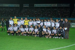 Champions for Charity football match, Ravenna's Benelli Stadium: team photo