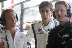 Nico Rosberg, Mark Webber and Sam Michael