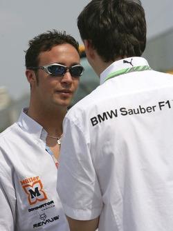 Andreas Zuber talks with Robert Kubica