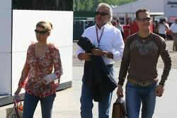Corina Schumacher, Willi Weber and Michael Schumacher