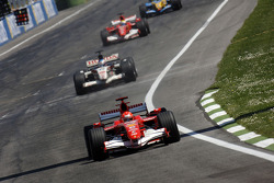 Michael Schumacher leads the field