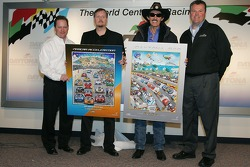 NASCAR artitst Charles Fazzino press conference: Charles Fazzino and Richard Petty