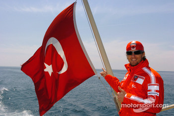 Sete Gibernau cruises the Bosphorus in Istanbul