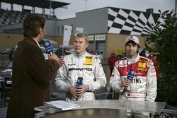 Mika Hakkinen and Heinz-Harald Frentzen