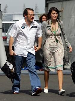 Jacques Villeneuve with girlfriend Johanna