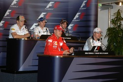 Thursday FIA press conference: Michael Schumacher, Ralf Schumacher, Christian Klien, Nick Heidfeld and Christijan Albers