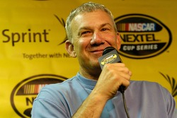 Dale Jarrett answers questions from the media