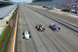 Mario Andretti, Michael Andretti and Marco Andretti take a lap together