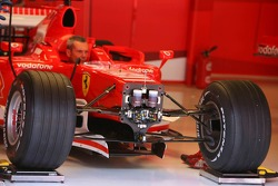 A Ferrari with Bridgestone tires