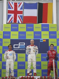 Alexandre Premat 1st, Lewis Hamilton 2nd and Michael Ammermuller 3rd