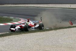 Ralf Schumacher after crashing into Jarno Trulli