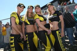 The lovely Pirelli girls at the podium ceremony