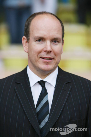 Charity football match: Prince Albert II of Monaco