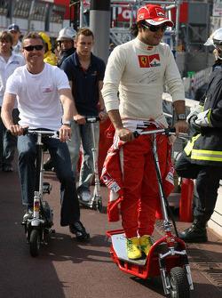 Felipe Massa, David Coulthard and Christian Klien