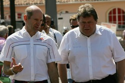 Adrian Newey and Norbert Haug