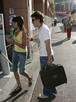 Fernando Alonso and his girlfriend Raquel del Rosario