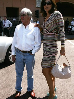 Bernie Ecclestone with his wife Slavica Ecclestone