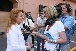 Louise Goodman, ITV Reporter with Sarah Ferguson