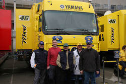 In Front Of Valentino Rossi's Truck