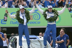 Podium: race winners Marcus Gronholm and Timo Rautiainen