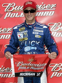 Kasey Kahne is awarded the Budweiser Pole award