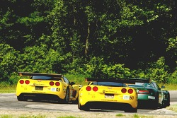 #4 Corvette Racing Corvette C6-R: Oliver Gavin, Olivier Beretta, #3 Corvette Racing Corvette C6-R: Ron Fellows, Johnny O'Connell
