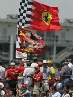 Michael Schumacher fans at the circuit
