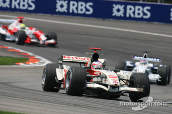 Rubens Barrichello and Jacques Villeneuve