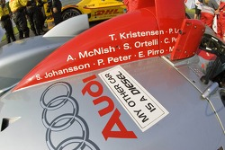 Sticker on the Audi R8: