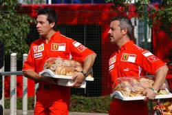 Ferrari catering with ham sandwiches