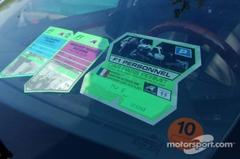 Stickers on the Maybach of Bernie Ecclestone