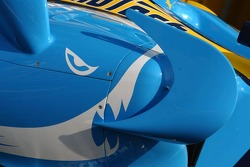 Shark livery on the Renault car