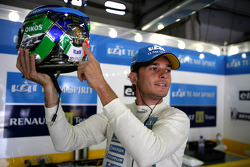 Giancarlo Fisichella with special edition helmet for Italy's win at the World Cup