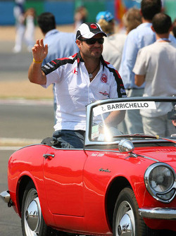 Drivers parade: Rubens Barrichello