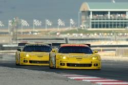 #3 Corvette Racing Corvette C6-R: Ron Fellows, Johnny O'Connell and #4 Corvette Racing Corvette C6-R: Oliver Gavin, Olivier Beretta