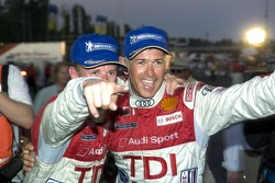 #2 Audi Sport North America Audi R10 TDI Power: Rinaldo Capello, Allan McNish celebrate there victory in LMP1