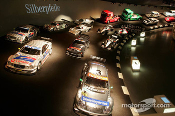 DaimlerChrysler Mercedes media warmup event: racing cars in the Mercedes-Benz museum in Stuttgart