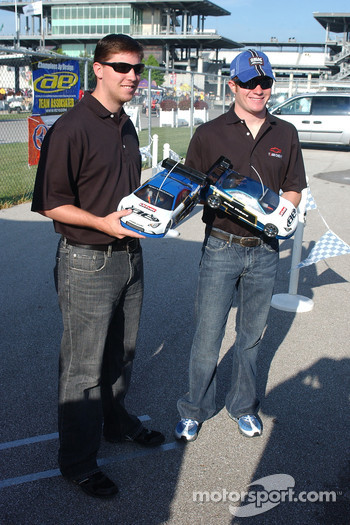 RC cars challenge: Denny Hamlin and Brian Vickers