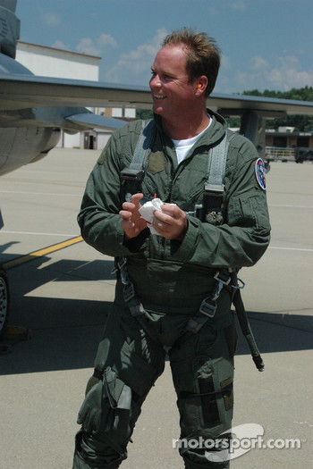 Tony Raines was thrilled by his flight with the Indiana Air National Guard