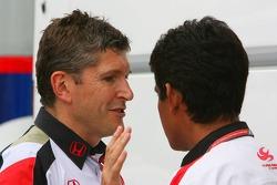Nick Fry and Aguri Suzuki