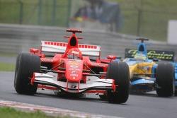 Michael Schumacher and Giancarlo Fisichella