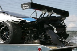 #59 Brumos Racing Porsche Fabcar car after the crash of JC France
